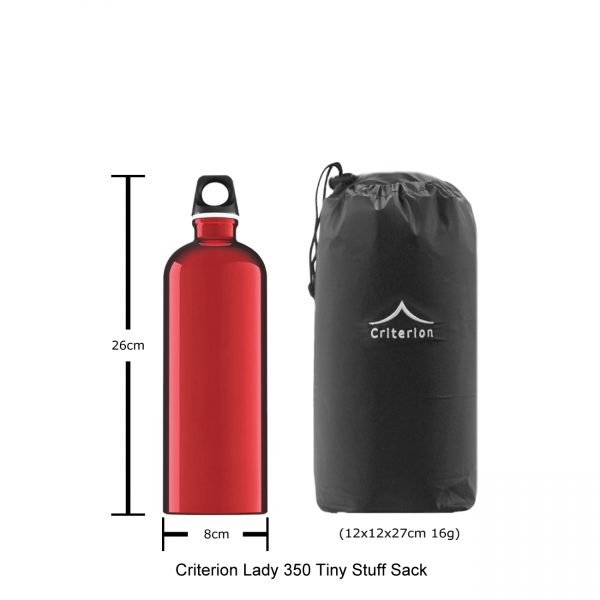 Down Sleeping Bags - Criterion Lady 350 Stuff Sack, 12 x 12 x 27 cm; 16 gms