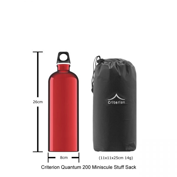 Down Sleeping Bags - Criterion Quantum 200 Stuff Sack, 11 x 11 x 25 cm; 14 gms