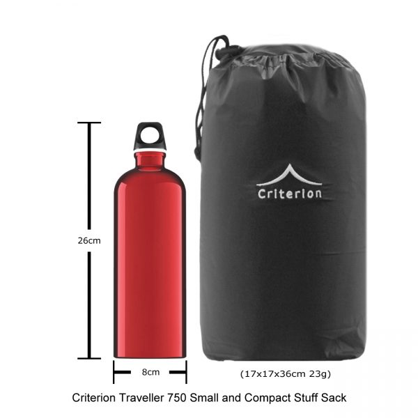 Down Sleeping Bags - Criterion Traveller 750 Stuff Sack, 17 x 17 x 36 cm; 23 gms