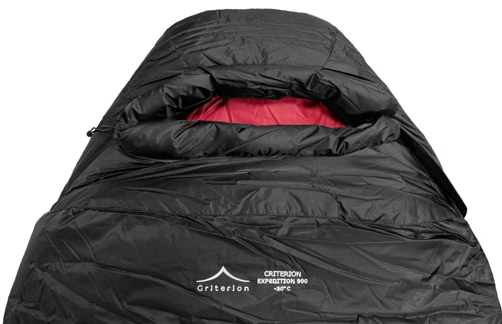 Criterion Expedition 1100 -40°C, 1170g (Expedition Hood Close Up) | Down Sleeping Bag