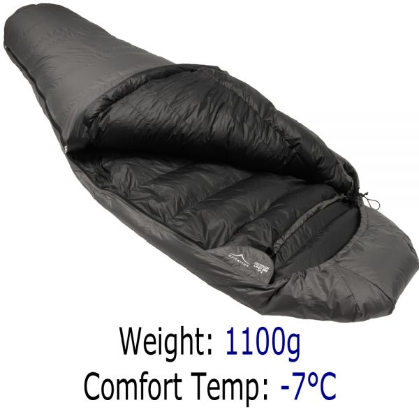 Womens Down Sleeping Bags - Criterion Lady 500 - Total Weight 1100 gms; Temperature -7 °C