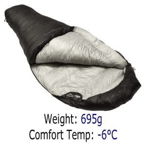 Down Sleeping Bags | Criterion Quantum 350 Lightweight Sleeping Bag - 695g - -6°C