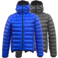 Criterion Activity Ultralight Down Jacket (Blue and Black Front Views)