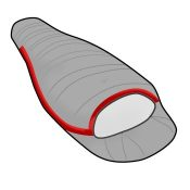 Criterion Down Sleeping Bags - Intergrated zip and neck baffle diagram
