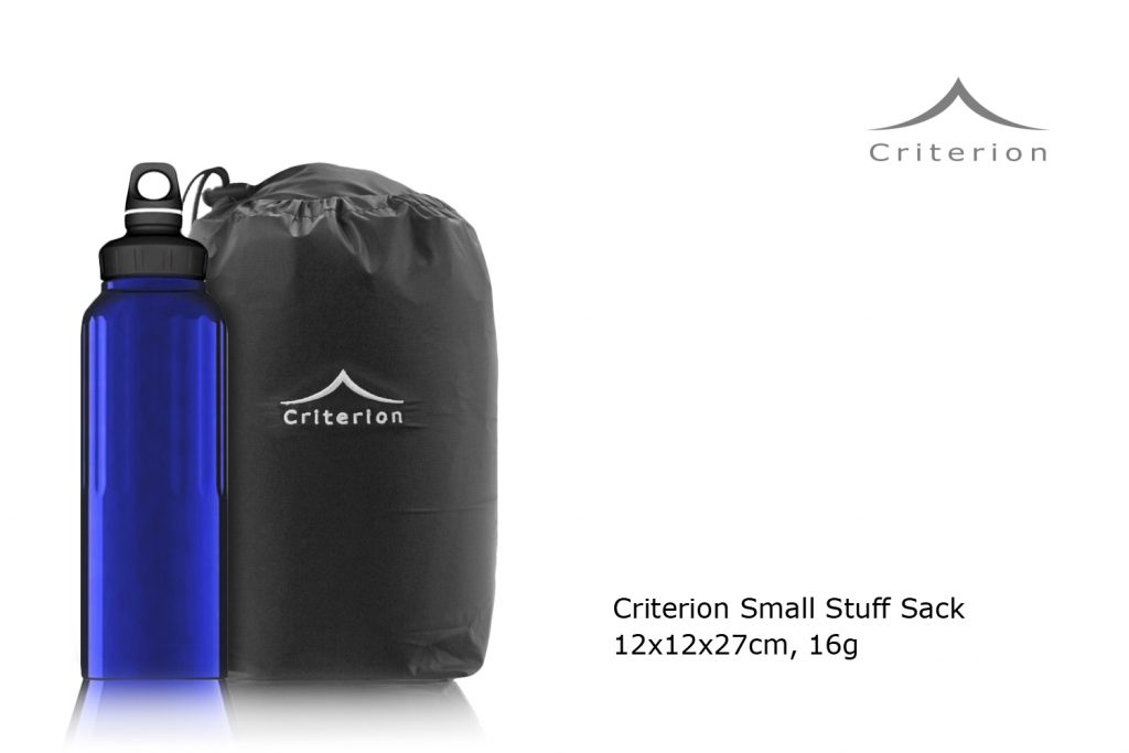 Criterion Small Stuff Sack - comparison with 1L drinks bottle