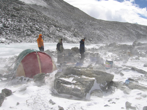Himalayan Mountain Base Camp - Where our sleeping bags were used