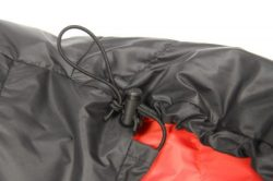 Criteiron Down Sleeping Bags hood draw cord and toggle