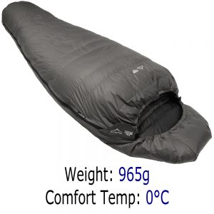 Down Sleeping Bag - Criterion Lady 350 - 965g 0°C
