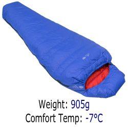 3 Season Sleeping Bag - Criterion Prime 400 - 905g -6°C Comfort Temp