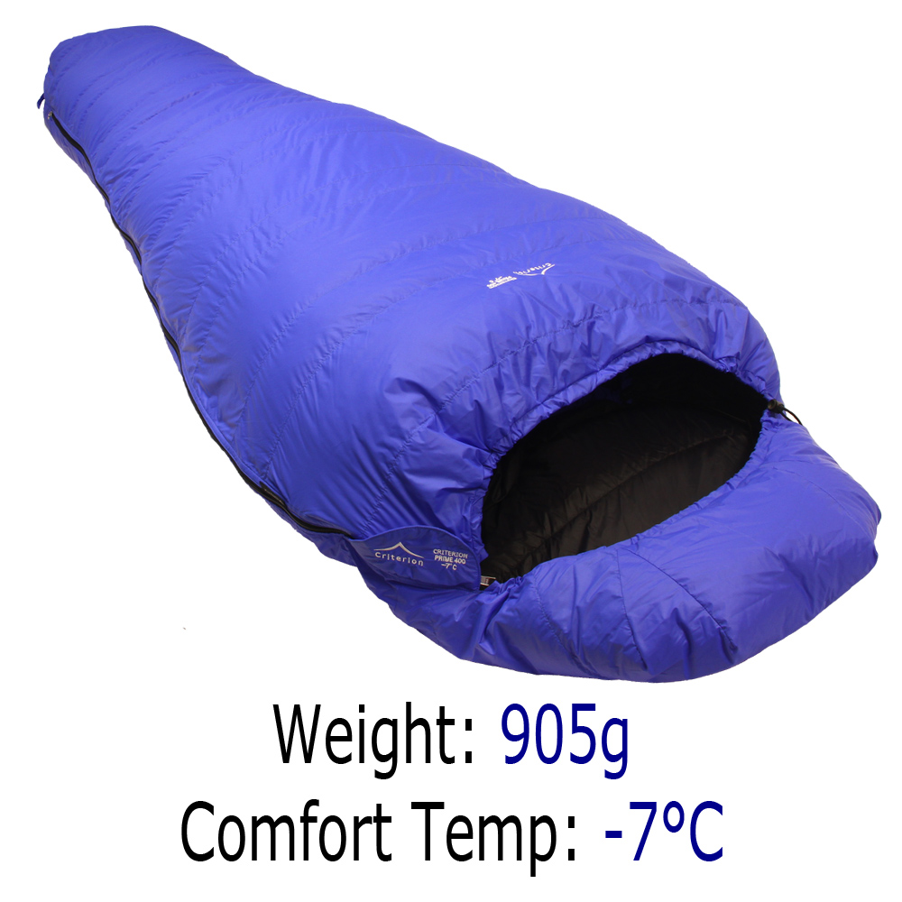 Criterion Prime 400 Down Sleeping Bag - 905g -6°C Comfort Temp