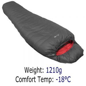 4 Season Sleeping Bag - Criterion Prime 700 - Total Weight 1210 gms; Temperature -18 °C
