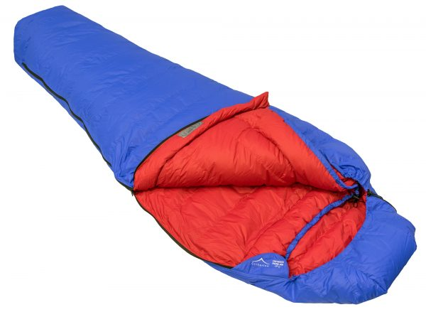 Down Sleeping Bags - Criterion Prime 400 Open - Total Weight 905 gms; Temperature -7 °C