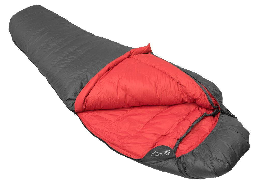Down Sleeping Bags - Criterion Prime 700 Open - Total Weight 1210 gms; Temperature -18 °C