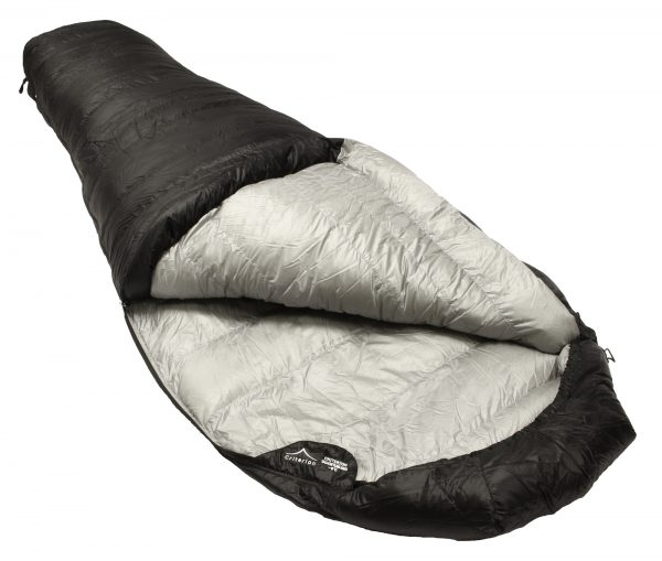 Down Sleeping Bags - Criterion Quantum 350 Open - Total Weight 695 gms; Temperature -3 °C