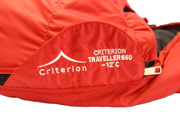 Down Sleeping Bags - Criterion Traveller 650 Branding- Total Weight 1155 gms; Temperature -12 °C