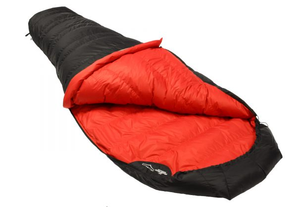 Down Sleeping Bags - Criterion Ultralight 350 (open) - Total Weight 765 gms; Temperature -3 °C
