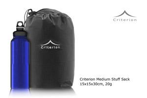 Criterion Medium Stuff Sack - comparison with 1L drinks bottle