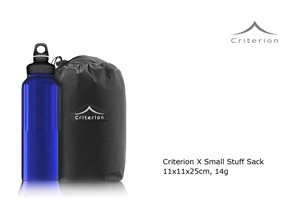 Criterion X Small Stuff Sack - comparison with 1L drinks bottle