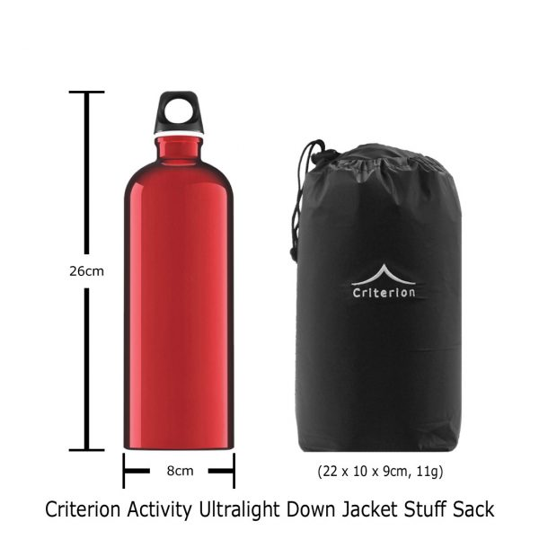Criterion Activity Ultralight Down Jacket | Stuff Sack 22 x 10 x 9cm | Image 1100 x 1100px