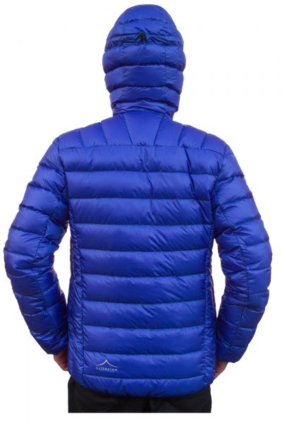 Criterion Activity Ultralight Down Jacket (Blue Rear View) | Image 1000 x 1500px