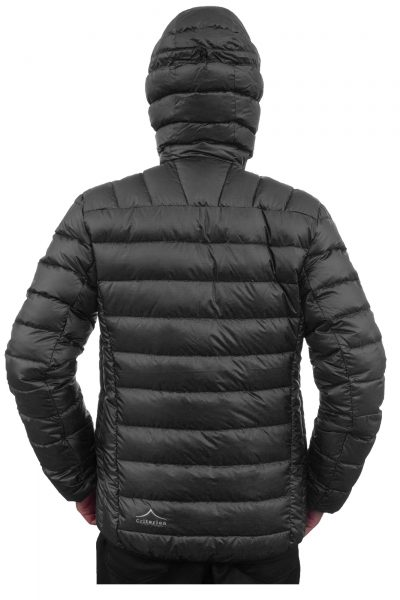 Criterion Activity Ultralight Down Jacket (Black Rear View) | Image 1000 x 1500px