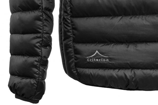 Criterion Activity Ultralight Down Jacket | Black - Rear Branding | Image 1500 x 1000px