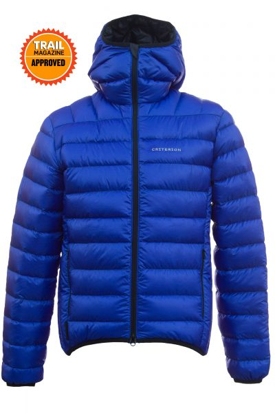 Criterion Activity Ultralight Down Jacket | Trail Magazine Approved | Blue - Front View | Image 1000 x 1500px