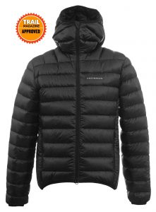 Criterion Activity Ultralight Down Jacket | Trail Magazine Approved | Black - Front View | Image 1000 x 1357px | Down Clothing