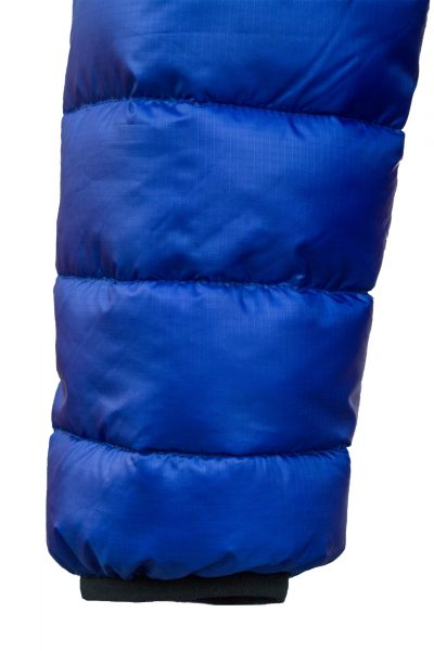 Criterion Activity Ultralight Down Jacket | Blue - Elasticated Cuff | Image 1000 x 1500px