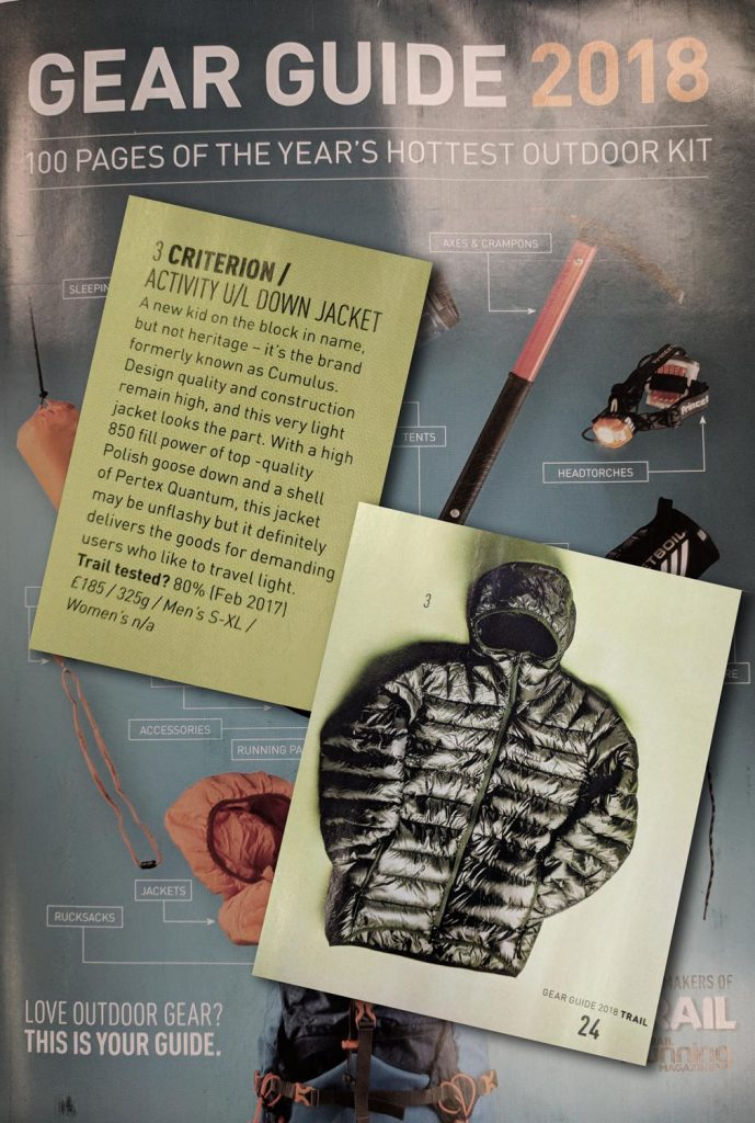 Trail Magazine 2018 Gear Guide Information About Criterion Activity Jacket