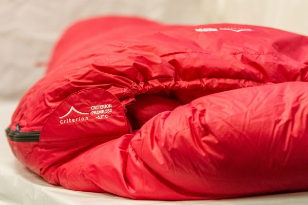 Down Sleeping Bags - Criterion Prime 550 Profile View - Total Weight 1055 gms; Temperature -12 °C