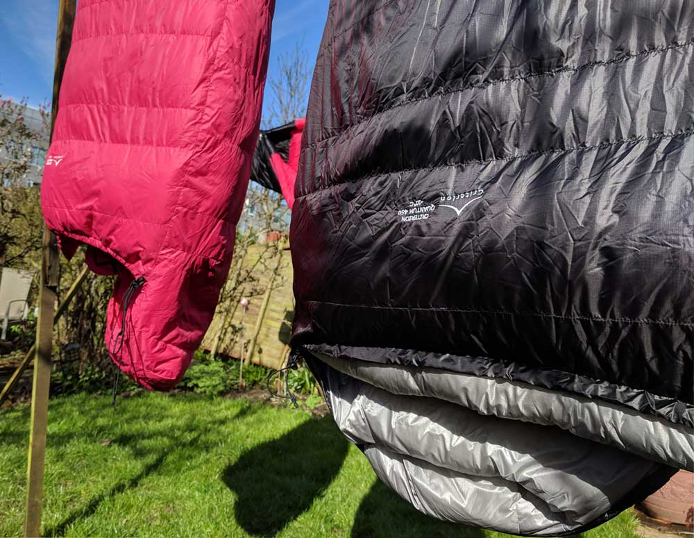 Airing Criterion Down Sleeping Bags at home